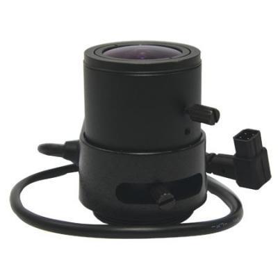 Acti beveiligingscamera bevestiging & behuizing: Vari-focal, f2.8-12mm, DC iris, F1.4 - Zwart