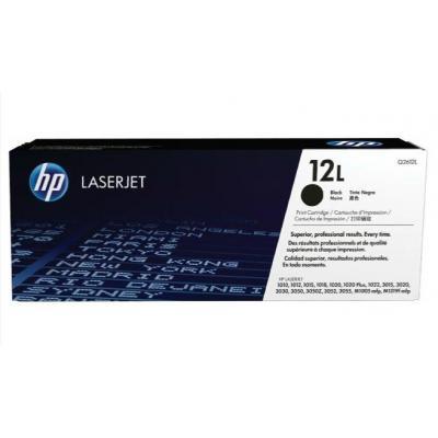 Hp cartridge: 12A - Zwart - Economy
