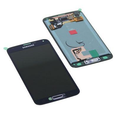 Samsung mobile phone spare part: SM-G900F Galaxy S5, Complete Display LCD+Touchscreen, black
