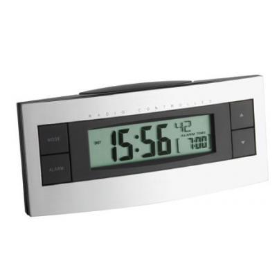 Tfa wekker: Radio controlled alarm clock - Zwart, Zilver