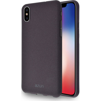 Azuri Flexible cover with sand texture - bruin - voor iPhone X/Xs Mobile phone case