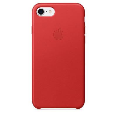 Apple mobile phone case: Leren hoesje voor iPhone 7 - (PRODUCT)RED - Rood