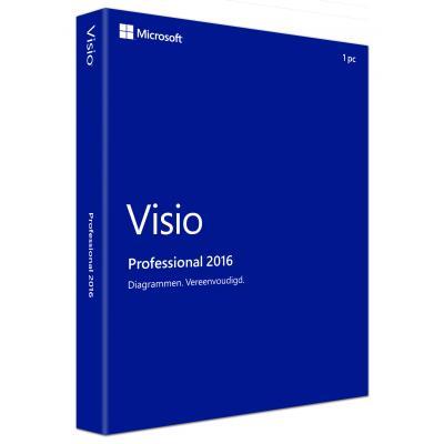 Microsoft project management software: Visio Pro 2016 (Dutch)