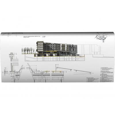 Hp grootformaat printer: Designjet Designjet T520 610-mm ePrinter - Zwart, Cyaan, Magenta, Geel