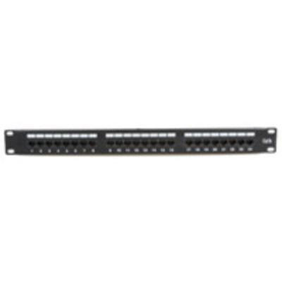 "Microconnect 19"" UTP, 5e, 24 port Patch panel - Zwart"