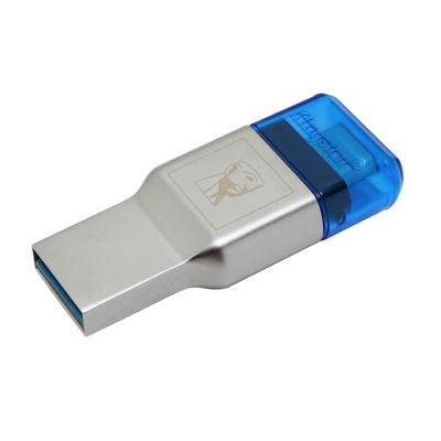Kingston Technology MobileLite Duo 3C Geheugenkaartlezer - Blauw, Zilver