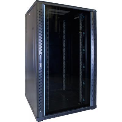DS-IT 27U serverkast met glazen deur 800x800x1400mm (BxDxH) Rack