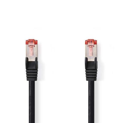 Nedis Cat 6 S/FTP Network Cable, RJ45 Male - RJ45 Male, 0.15 m, Black Netwerkkabel - Zwart