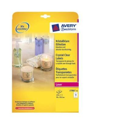 Avery L7783-25 Etiket - Transparant