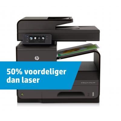 HP multifunctional: Officejet Pro X576dw MFP - Zwart, Cyaan, Magenta, Geel