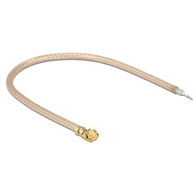 DeLOCK 0.1m MHF U.FL/RG178 Coax kabel - Transparant