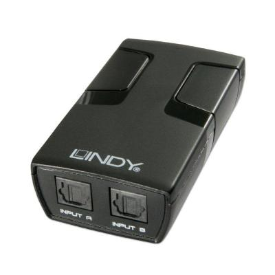 Lindy Audio switch : 2 Port Automatic Optical Switch - Zwart