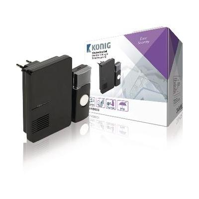 König deurbel: Plug-in Draadloze Deurbel Set 220V 70 dB Zwart