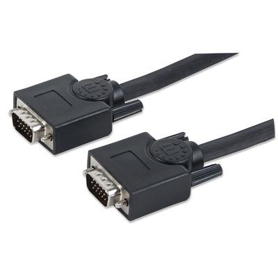 Manhattan SVGA Monitor Cable VGA kabel  - Zwart