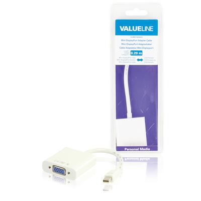 Valueline Mini DisplayPort-adapterkabel Mini-DisplayPort mannelijk - VGA vrouwelijk wit 0.20 m
