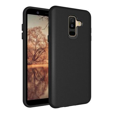 EIGER Black, f/ Samsung Galaxy A6+, 1 pcs Mobile phone case - Zwart