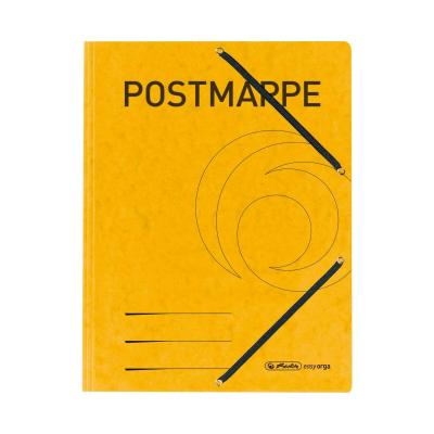 Herlitz 3-flap file with elastics A4 Postmappe yellow Map - Geel