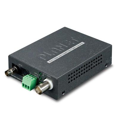 PLANET 1-Channel 4-in-1 Video over Gigabit Fiber Bundle Kit (VF-101G-T + VF-101G-R) Media converter - Zwart