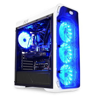 LC-Power Gaming 988W - Blue Typhoon Behuizing - Wit