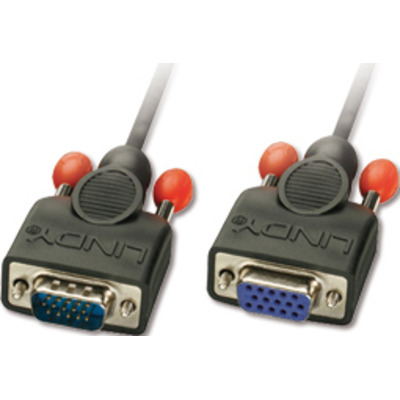 Lindy 5m HD15 VGA kabel  - Zwart