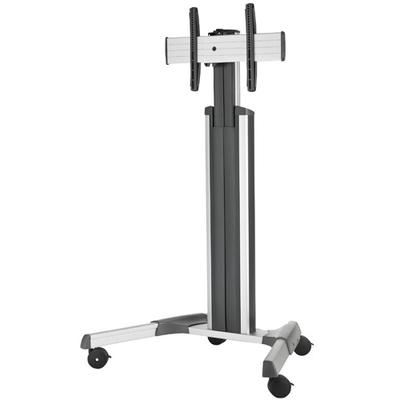 Chief Medium Fusion Manual Height Adjustable Mobile AV Cart Multimedia kar & stand - Zilver