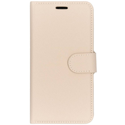 Saffiano Booktype iPhone Xr - Beige Mobile phone case