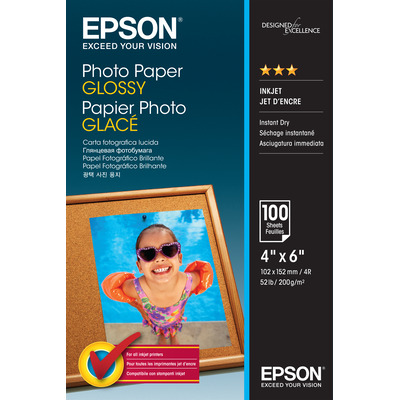 Epson Photo Paper Glossy - 10x15cm - 100 Vellen Fotopapier