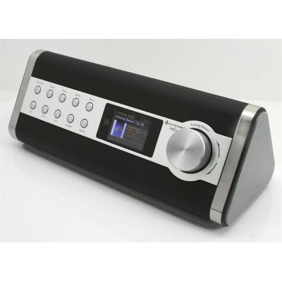 Soundmaster radio: LCD, DAB+/FM, 2 x 5 W, Wi-Fi - Zwart, Roestvrijstaal