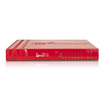 Watchguard firewall: Firebox T50, 1-yr Security Suite