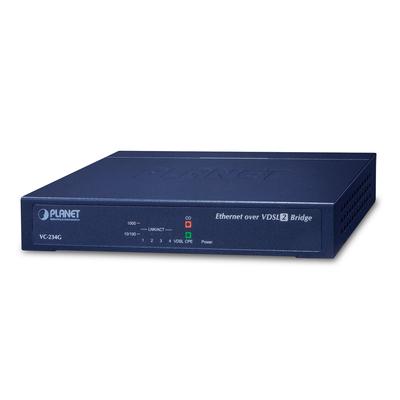 PLANET 4-Port 10/100/1000T Ethernet to VDSL2 Bridge Wifi-versterker - Blauw