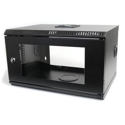 Startech.com rack: 6U 19 inch Serverrack Serverkast Wandmontage met Acryl Deur - Zwart