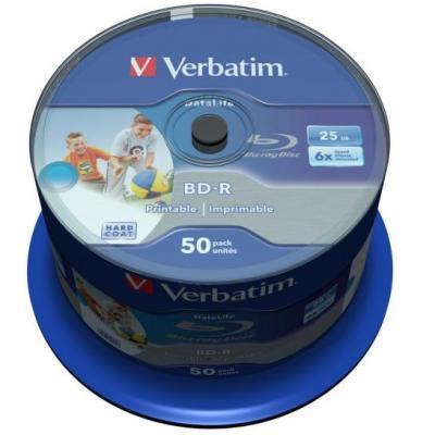 Verbatim BD: BD-R SL DATALIFE 25GB 6X 50 pk spindel