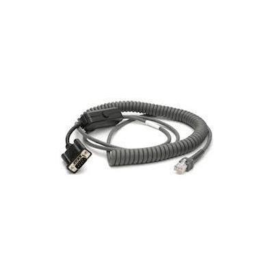 Zebra seriele kabel: RS232, 3.7m - Grijs