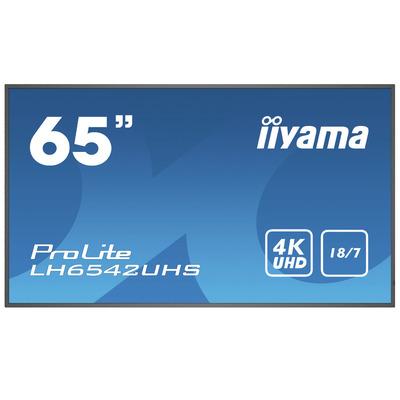 """Iiyama ProLite LH6542UHS-B1 64.5"""" Public display - Zwart"""