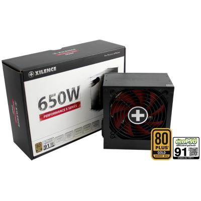 Xilence XP650R9 Power supply unit - Zwart, Rood