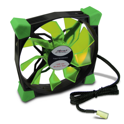 Inter-Tech CobaNitrox N-120-GR Hardware koeling - Zwart, Groen