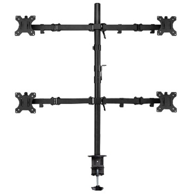 Ewent Quad LCD Desk Mount Monitorarm - Zwart