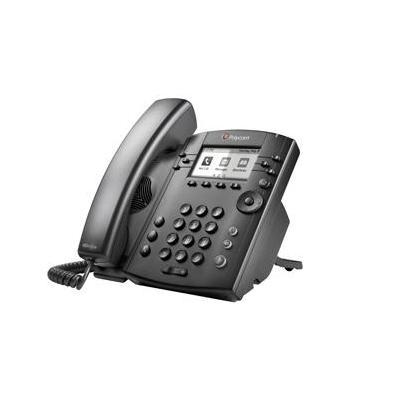 Polycom ip telefoon: VVX 300 - Zwart