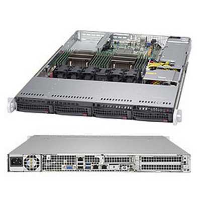 Supermicro SuperServer 6018R-TDW Server barebone - Zwart