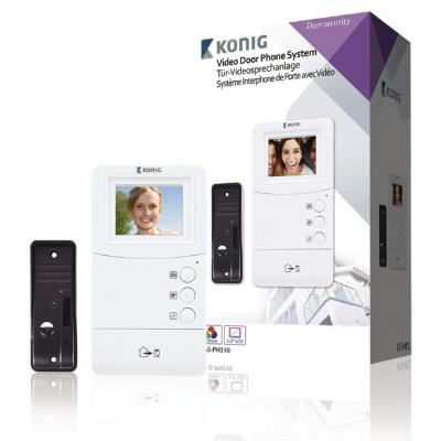 König video intercom system: LCD/TFT, Audio + Video, - Zwart, Wit