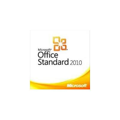 Microsoft software suite: Office Standard 2010, LIC/SA, OLP-D, 1Y AQ Y1, GOV