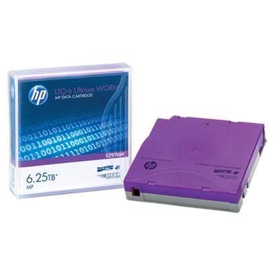 Hewlett Packard Enterprise HP LTO-6 Ultrium 6.25TB MP WORM Data Cartridge Datatape - Paars