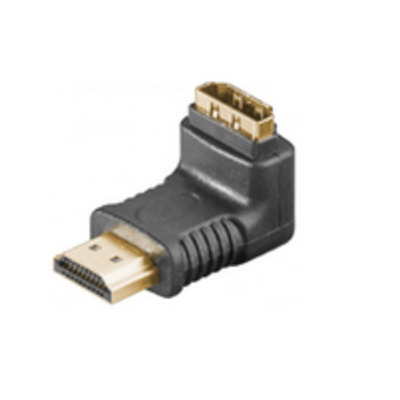 Microconnect HDMI 19 - HDMI 19 F-M Adapter Kabel adapter - Zwart