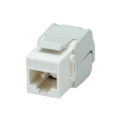 ROLINE Cat.6 Keystone Jack, RJ-45, unshielded, toolless white Patch panel - Wit