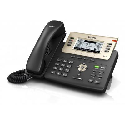 """Yealink ip telefoon: 9.2964 cm (3.66 """") , 240 x 120, LCD, G.711(A/μ), G.729AB, G.726, iLBC, IP-PBX, 2x RJ-9, 1x RJ-12, ....."""