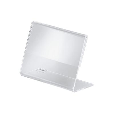 Sigel etikethouder: Info-/prijsstandaard, glashelder, voor 90x60 mm - Transparant