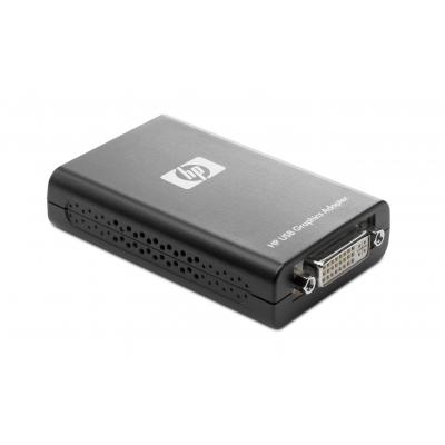 HP USB Graphics Adapter Videokaart - Zwart