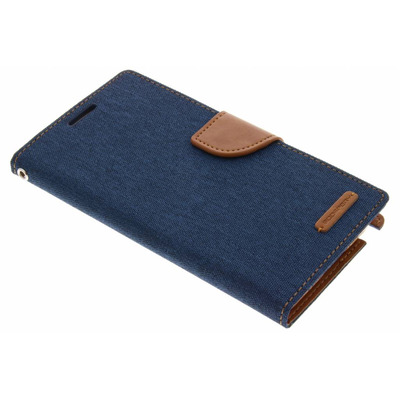 Canvas Diary Booktype Samsung Galaxy Note 3 - Blauw / Blue Mobile phone case