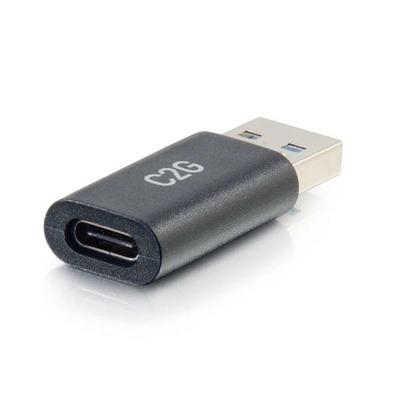 C2G USB-C® vrouwelijk naar USB-A mannelijk SuperSpeed USB 5Gbps adapterconverter Kabel adapter - Zwart