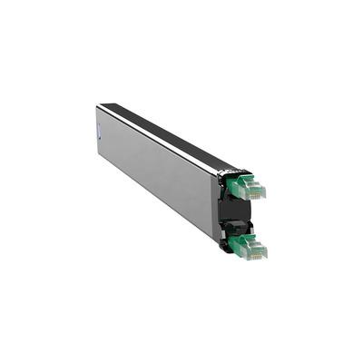 PATCHBOX 365 Cat. 6 Cassette, 50mm x 690mm x 50mm, 0.32kg - Zwart,Groen,Zilver